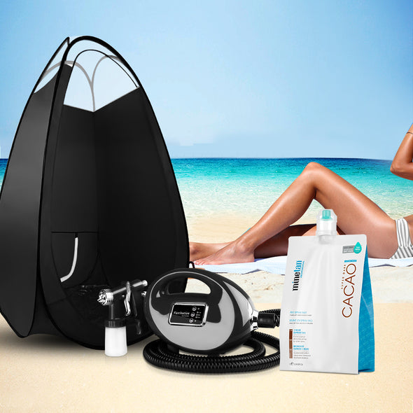 Alba. Spray Tan Machine Sunless Tanning Tent Kit 1L Solution Professional
