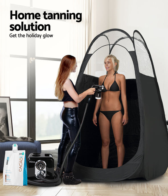 Alba. Spray Tan Machine Sunless HVLP System Solution Spray Tent Kit