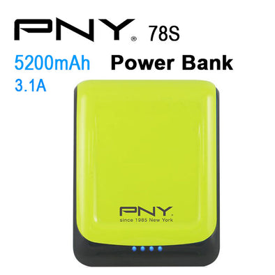 PNY POWER BANK 78S GREEN 7800MAH 2 USB OUTPUT