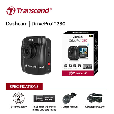 "Transcend 32G DrivePro 230, 2.4"" LCD,with Suction Mount  TS-DP230M-32G"