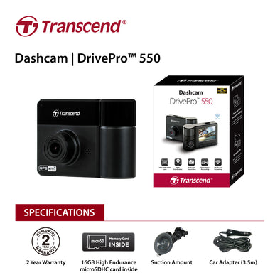 Transcend DrivePro 550 Protection both inside and out with 32G TS-DP550A-32V