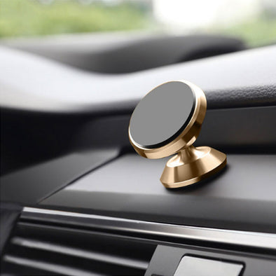 Dash Top Full Metal Magnetic Car Mount - Gold