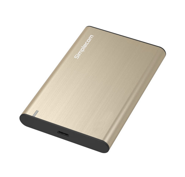 Simplecom SE221 Aluminium 2.5'' SATA HDD/SSD to USB 3.1 Enclosure Gold