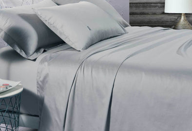 Queen Size 500TC Cotton Sateen Fitted Sheet (Silver Color)