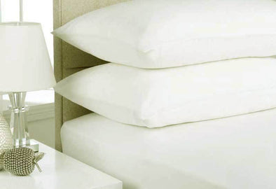 Mega Queen Size White Color Egyptian Cotton Flannelette Sheet Set (3PCS)