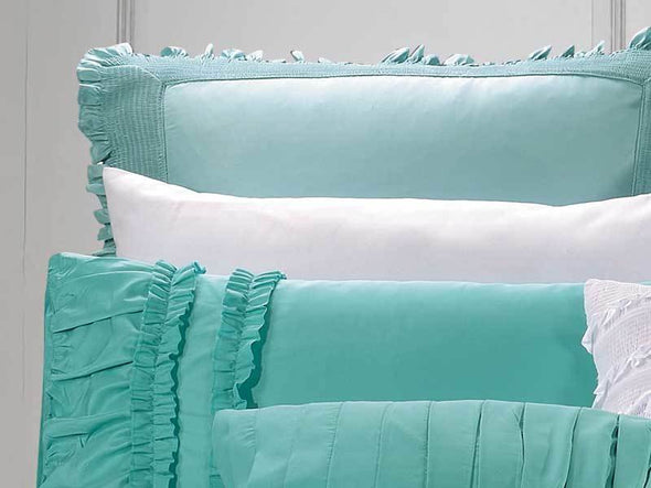 King Size Wenshia Turquoise Quilt Cover Set (3PCS)