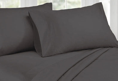 Queen Size 1000TC Cotton Rich Sheet Set (Charcoal Color)