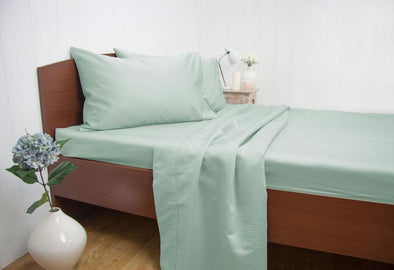 King Size 1500TC Cotton Rich Sheet Set (Mint Color)