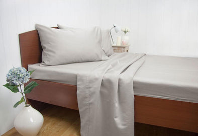 Queen Size 1500TC Cotton Rich Sheet Set (Silver Color)