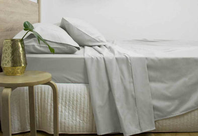 Super King Size 3000TC Cotton Rich Sheet Set (Silver Color)
