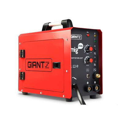 GIANTZ MIG Welding Machine DC Inverter Welder MAG MMA ARC Gas Gasless IGBT 250Amp