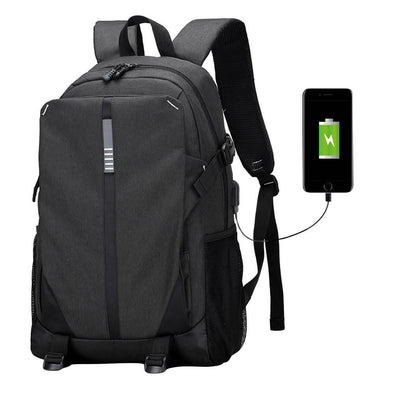 Ultra Smart TECH2GO Backpack with Charging Port - Black