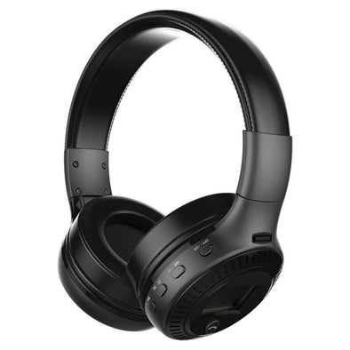 B-19 Wireless Bluetooth Headphone with Hands-free Mic - Black