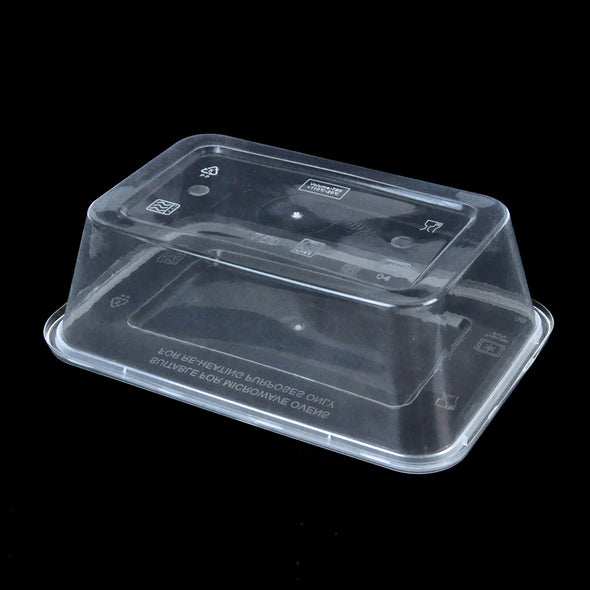 1000 Pcs 1000ml Take Away Food Plastic Containers Boxes Base and Lids Bulk Pack