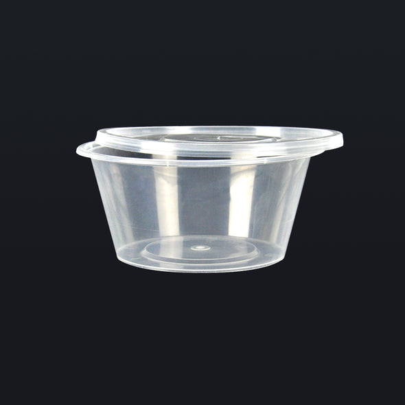100 Pcs 300ml Take Away Food Plastic Containers Boxes Base and Lids Bulk Pack