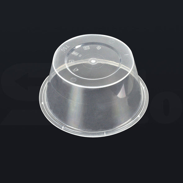 1000 Pcs 750ml Take Away Food Plastic Containers Boxes Base and Lids Bulk Pack