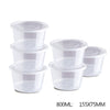 1000ml Round Take Away Food Plastic Containers