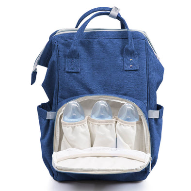 Waterproof Mummy Nappy Diaper Bag Baby Travel Changing Nursing Backpack Blue