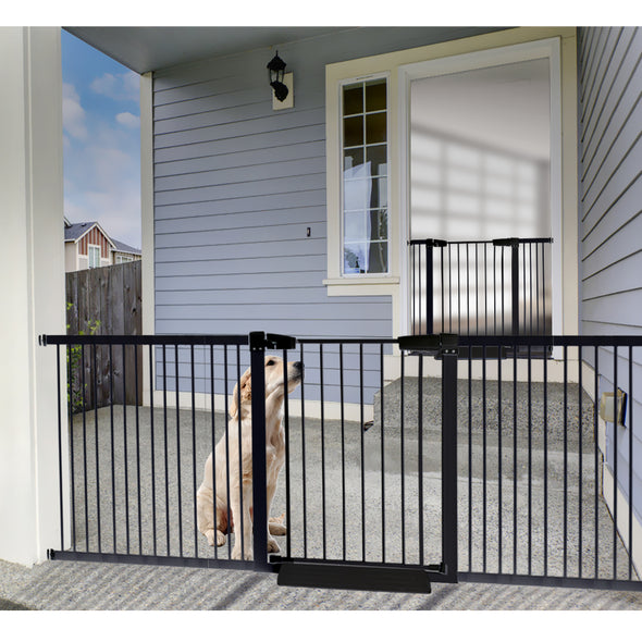 Baby Kids Pet Safety Security Gate Stair Barrier Doors Extension Panels 30cm BK
