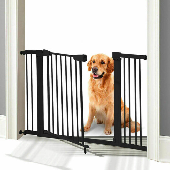 Baby Kids Pet Safety Security Gate Stair Barrier Doors Extension Panels 10cm BK