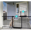 70-187cm Adjustable Wide Baby Kids Pet Safety Security Gate Stair Barrier Doors