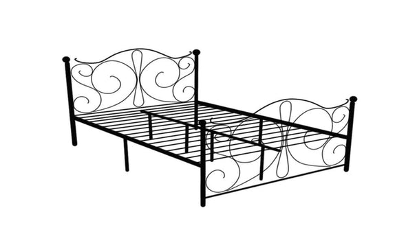 Levede Stylish Metal Bed Frame Ironline Bedroom Mattress Base King Size Black