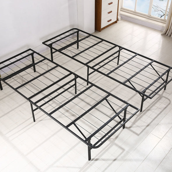 Levede Foldable Metal Bed Frame Mattress Base Platform Air BnB Super King Size