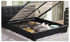 Levede Gas Lift Bed Frame Premium PU Leather Base Mattress Storage Queen Size