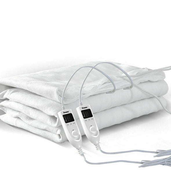 DreamZ 450 GSM Polyster Electric Blanket Heated Warm Winter Fitted Single Size