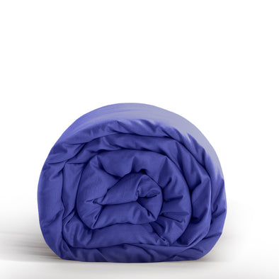 DreamZ Double Size Anti-Anxiety Weighted Blanket Cotton Cover in Royal Blue Colour