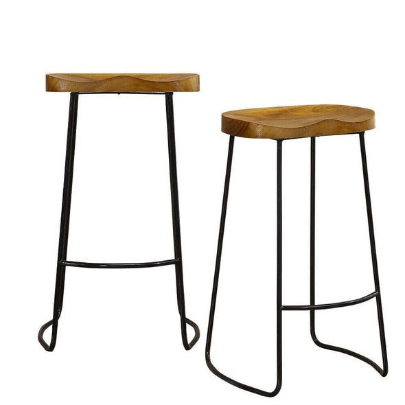4x Levede Industrial Bar Stools Kitchen Stool Wooden Barstools Dining Chair