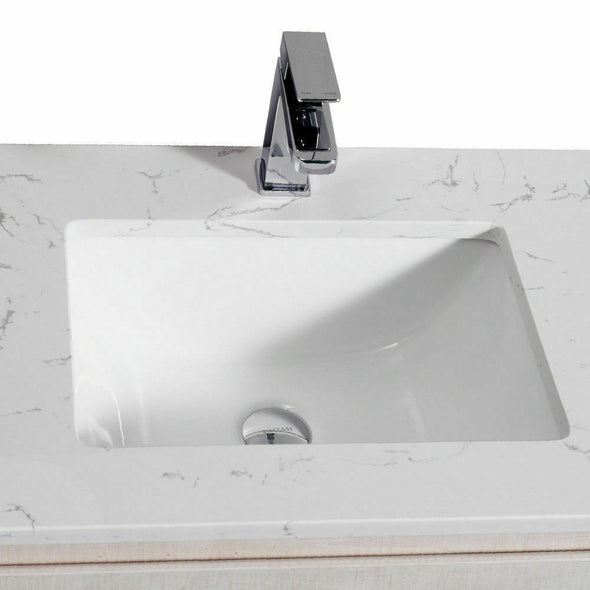 Aulic Finger Pull Bathroom Toilet Vanity Basin Storage Cabinet 600mm Stone Top