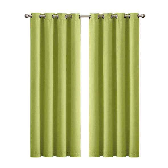 2x Blockout Curtains Panels 3 Layers Eyelet Room Darkening 300x230cm Grey