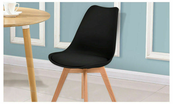Levede 2x Retro Replica Eames PU Leather Dining Chair Office Cafe Lounge Chairs