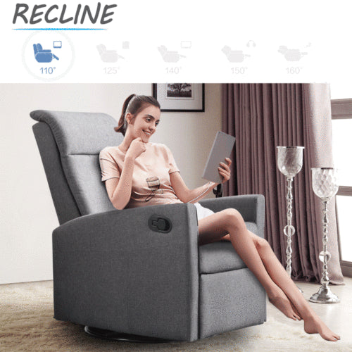 Levede Luxury Sofa Chair Recliner Lounge Armchair Couch 360 Degree Swivel