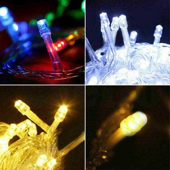 300 LED Curtain Fairy String Lights Wedding Outdoor Xmas Party Lights Cool White
