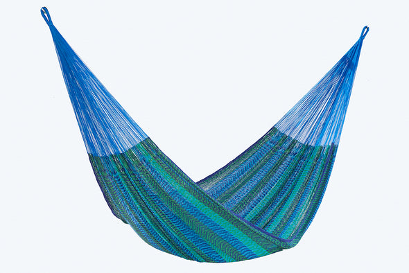 Single Size Cotton Mexican Hammock in Caribe Colour