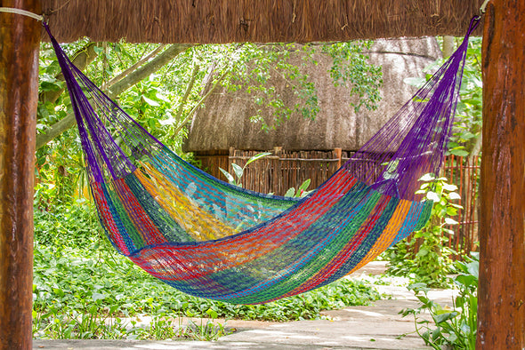 Queen Size Cotton Hammock in Colorina