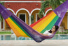 Jumbo Size Cotton Hammock in Rainbow