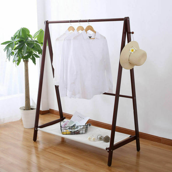 Levede Wooden Garment Coat Clothes Stand Rack Bag Shoe Hanger Hat Jacket Holder