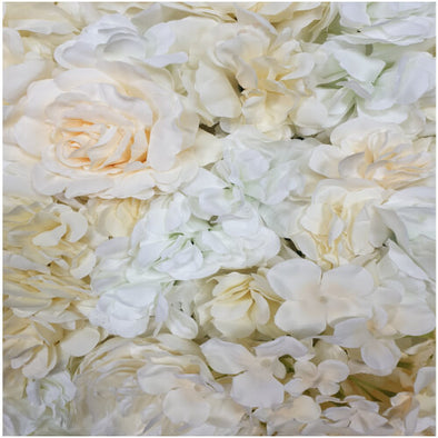 Cream Rose Floral Flower Wall 60cm x 40cm