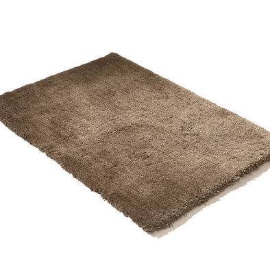 Ultra Soft Anti Slip Rectangle Plush Shaggy Floor Rug Carpet in Taupe 160x225cm