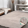 Ultra Soft Anti Slip Rectangle Plush Shaggy Floor Rug Carpet in Beige 90x150cm