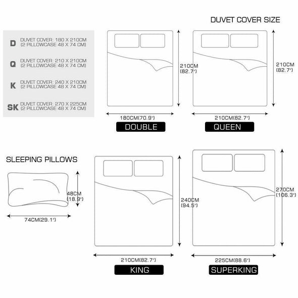 DreamZ Microfibre Reversible Quilt Duvet Cover and Pillowcase Set in King Size
