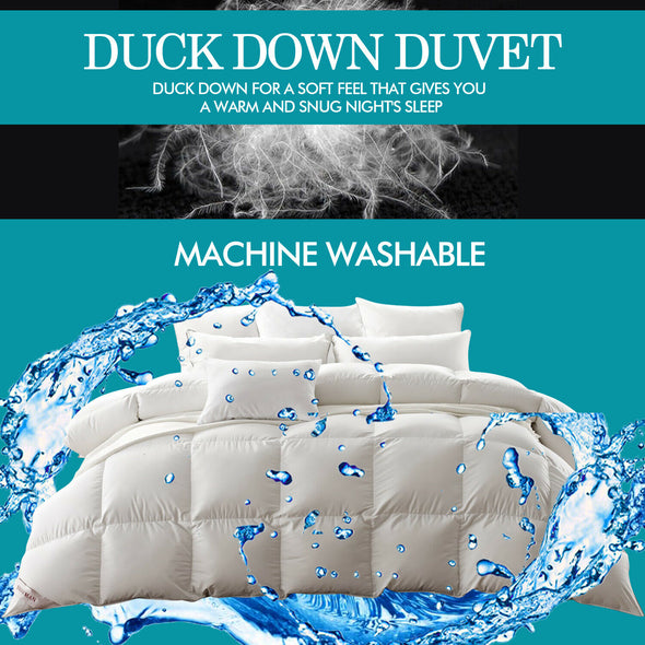 DreamZ 500GSM All Season Duck Down Feather Filling Duvet in Single Size