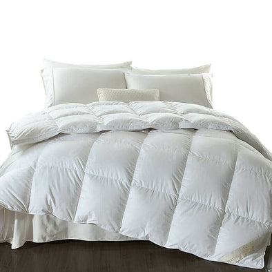 DreamZ 500GSM All Season Goose Down Feather Filling Duvet in Super King Size