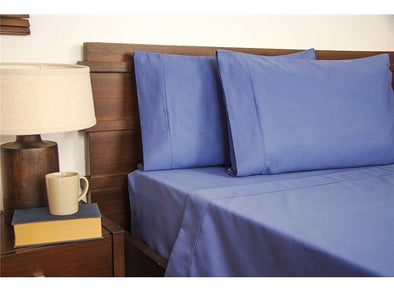 Queen Size 1900TC Cotton Rich Sheet Set (Blue Color)