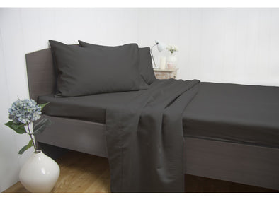 Queen Size 1900TC Cotton Rich Sheet Set (Charcoal Color)