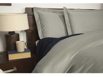 King Size 1900TC Cotton Rich Sheet Set (Grey Color)