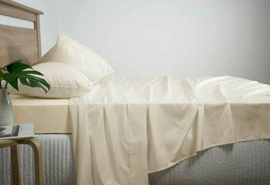 King Size 2500TC Cotton Rich Sheet Set (Linen Color)